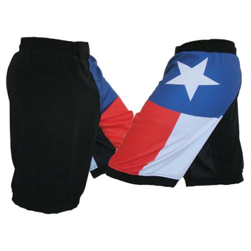 Texas Flag MMA Fight Shorts