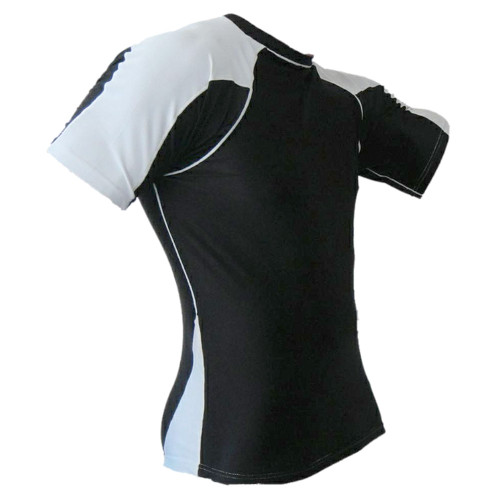 Black & White Rash Guard MMA Shirt
