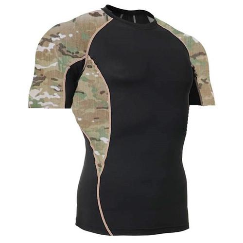 Side Panel MultiCam Rash Guard MMA Shirt