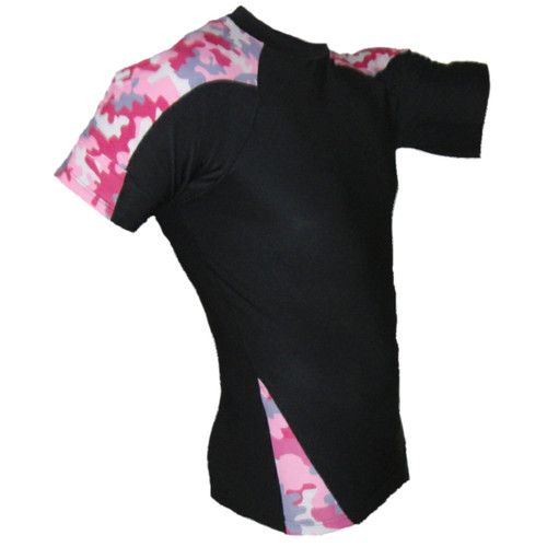 Pink Camouflage Rash Guard MMA Shirt