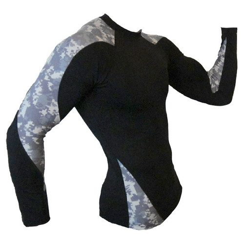 Army Camouflage Long Sleeve Rash Guard MMA Shirt