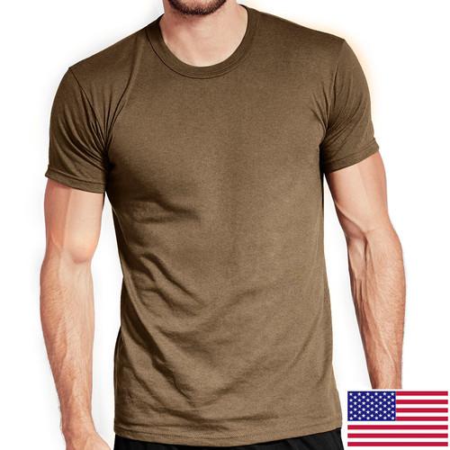 Military Tan OCP T-Shirt 100 Percent Cotton Poly 3-Pack