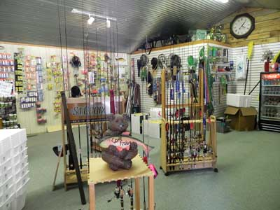 Inside of the Caney Fork Outdoors' store.