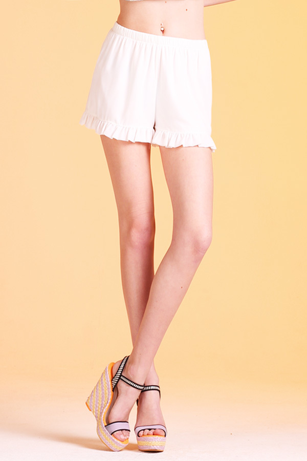 Ruffle Shorts with Lining P-2076