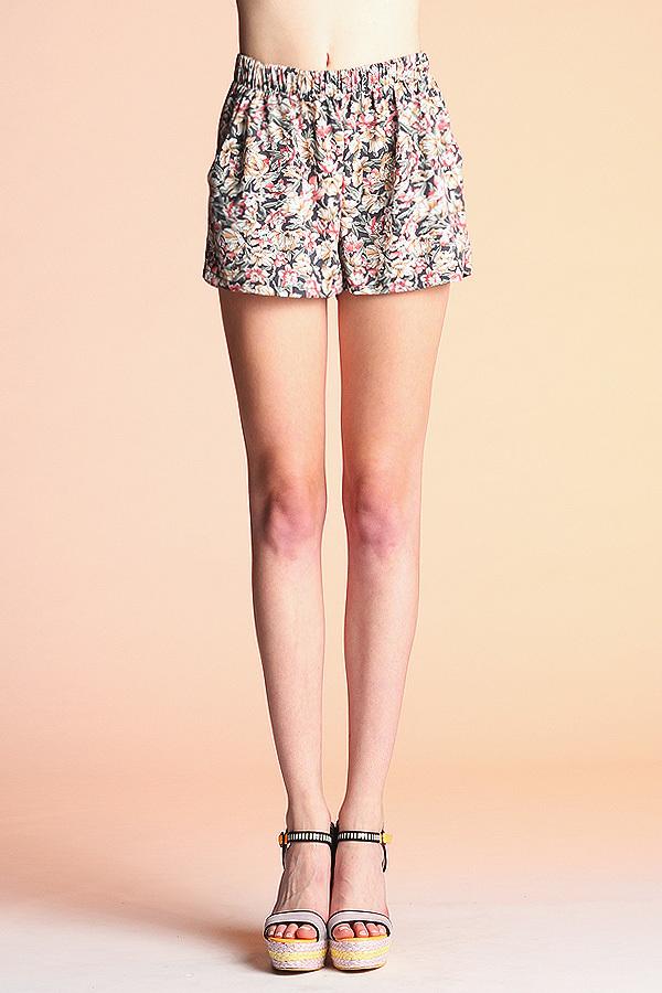 Multi-Floral Shorts P-3246