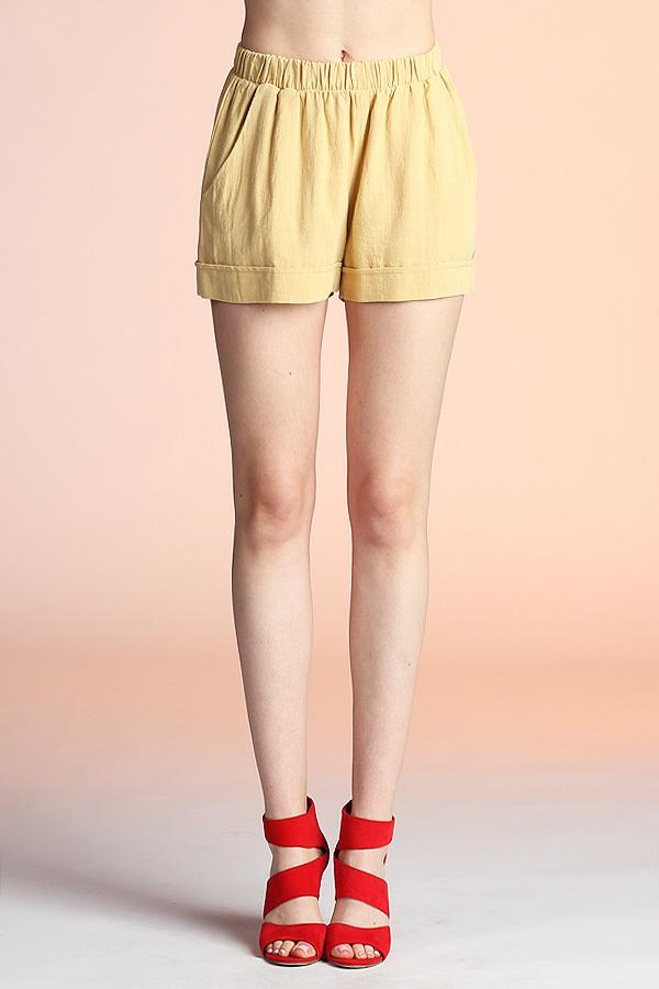 Washed Cotton Shorts P-3643