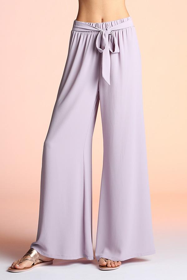 Tie Front Wide Leg Pants P-3663