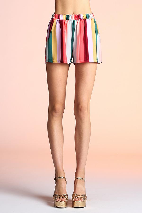 Multi Rainbow Shorts P-3853