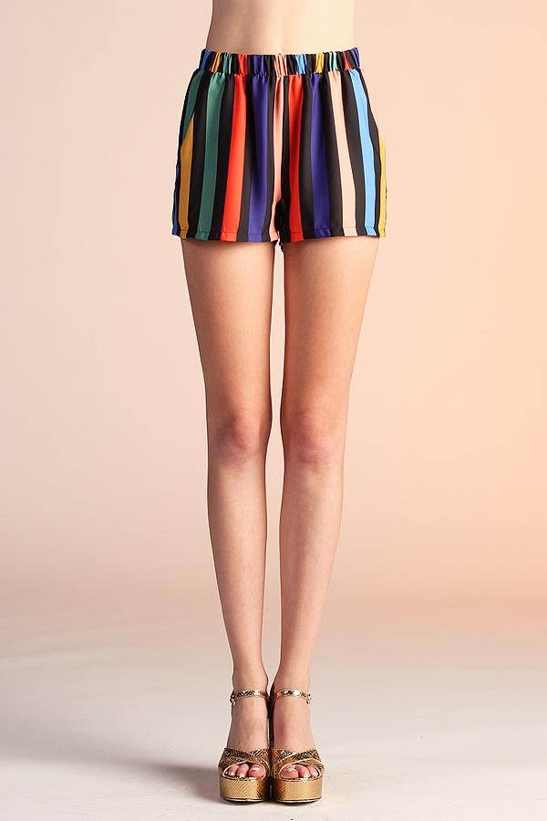 Black Rainbow Shorts P-4177