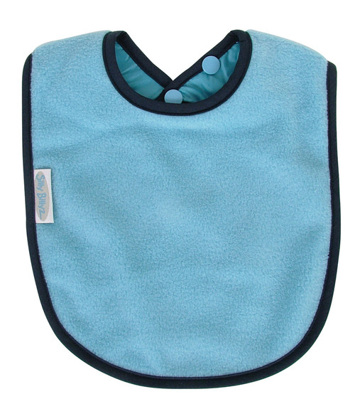 Sky Blue Fleece Large Bib