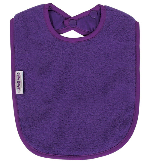 Purple Fleece Large Bib