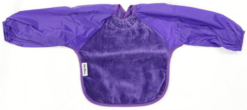 Purple Towel Long Sleeve Bib