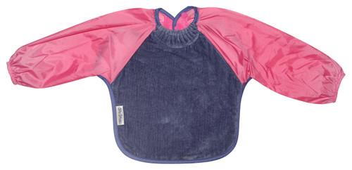 Lilac/Cerise Towel Long Sleeve Bib