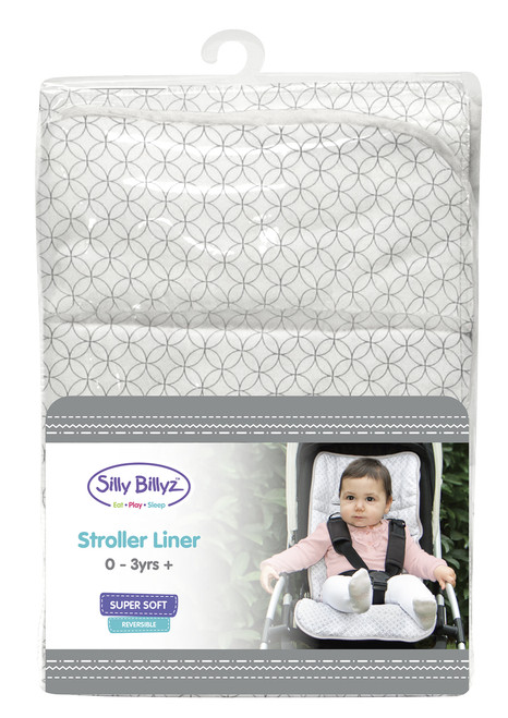 Geo Circles Jersey Stroller Liner