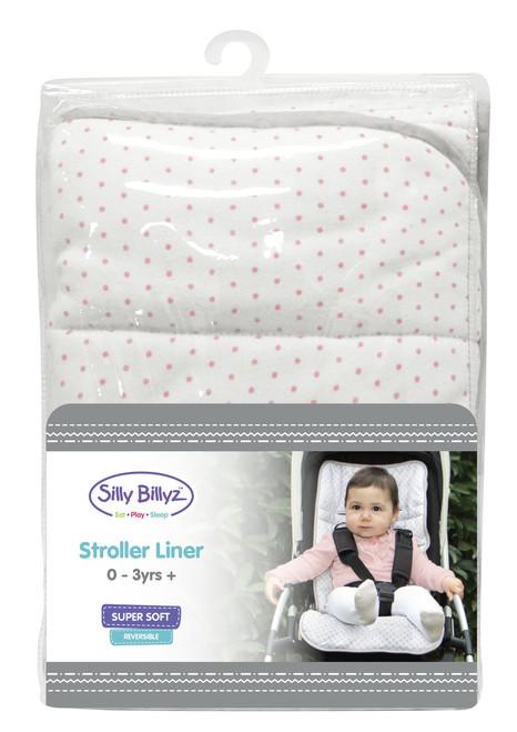 Pink Spot Jersey Stroller Liner