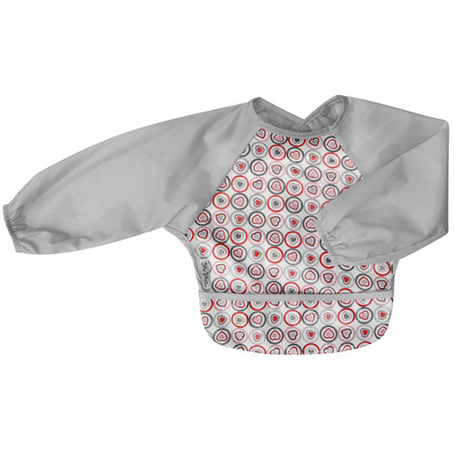 Wipe Clean Long Sleeve Bib Heart