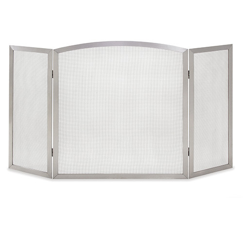 Pilgrim Newport Tri Panel Fireplace Screen - 304 Stainless Steel