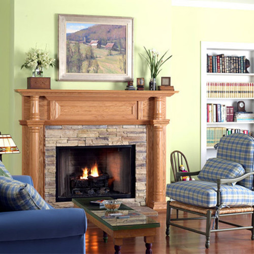 CHARLESTON WOOD FIREPLACE MANTEL STANDARD SIZES