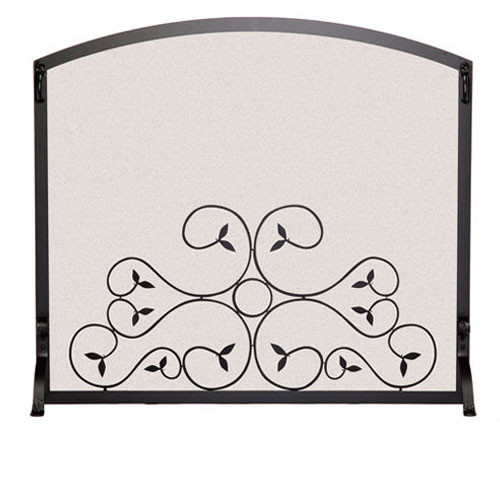 Pilgrim Arch Top Scroll Screen - Matte Black or Vintage Iron (Multi Sizes Available)