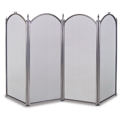 Pilgrim Mendocino 4 Panel Screen in Pewter