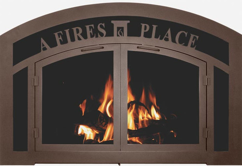 Bar Iron Sidelight & Transom Fireplace Doors pricing from $1400-$3500
