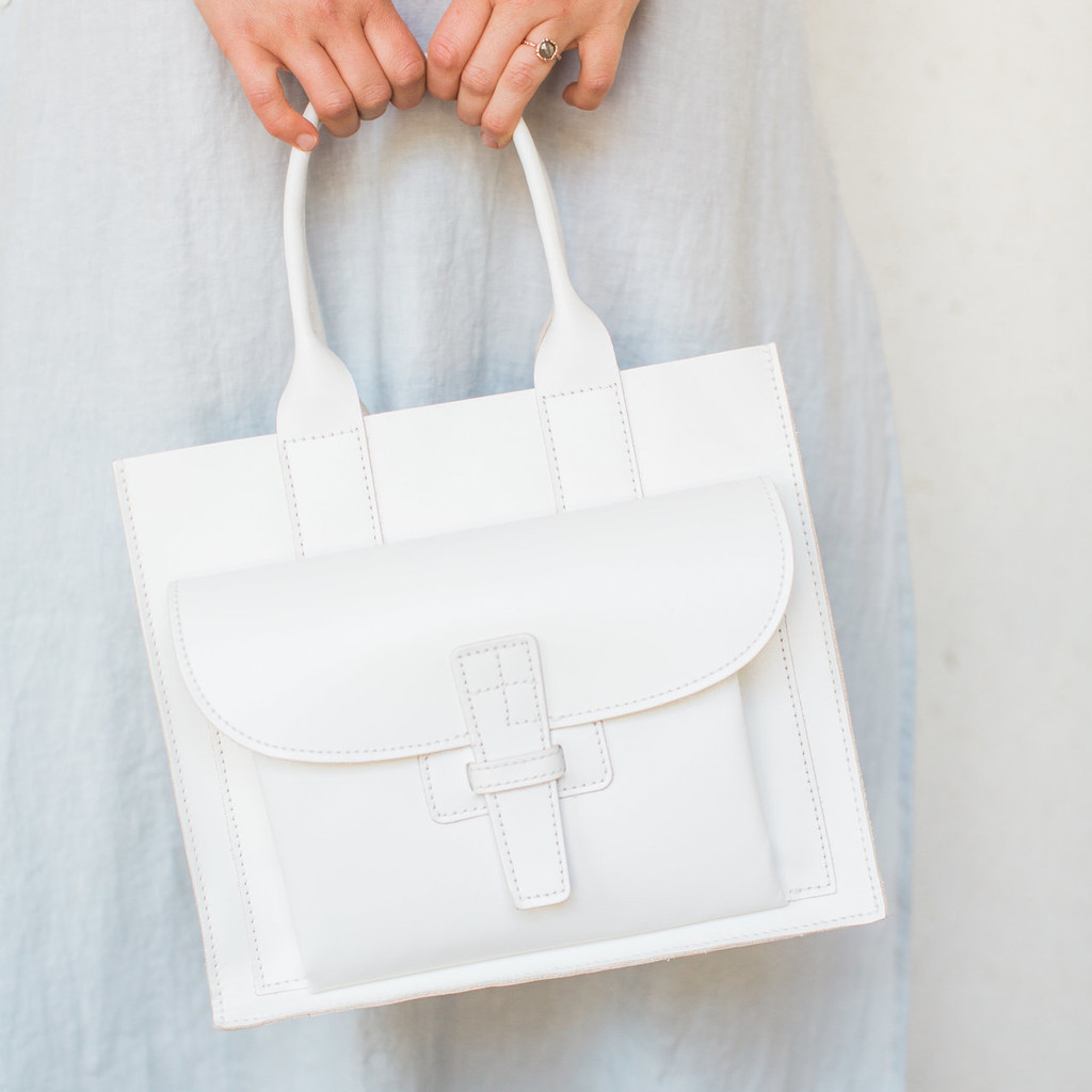 Agnes Baddoo : Sac 1 White Leather