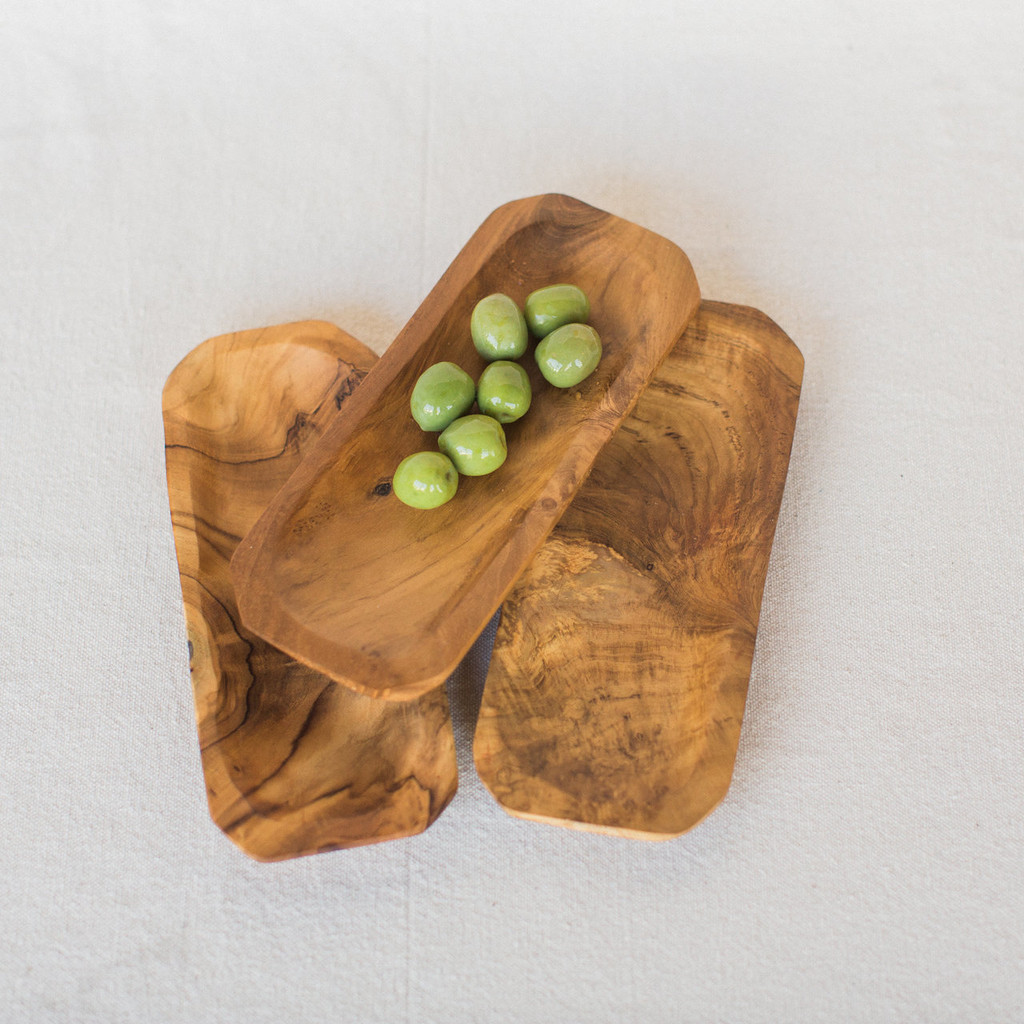 Midland : Small Rectangle Teak Tray