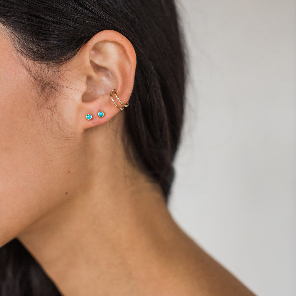 Maya Brenner : Turquoise Studs