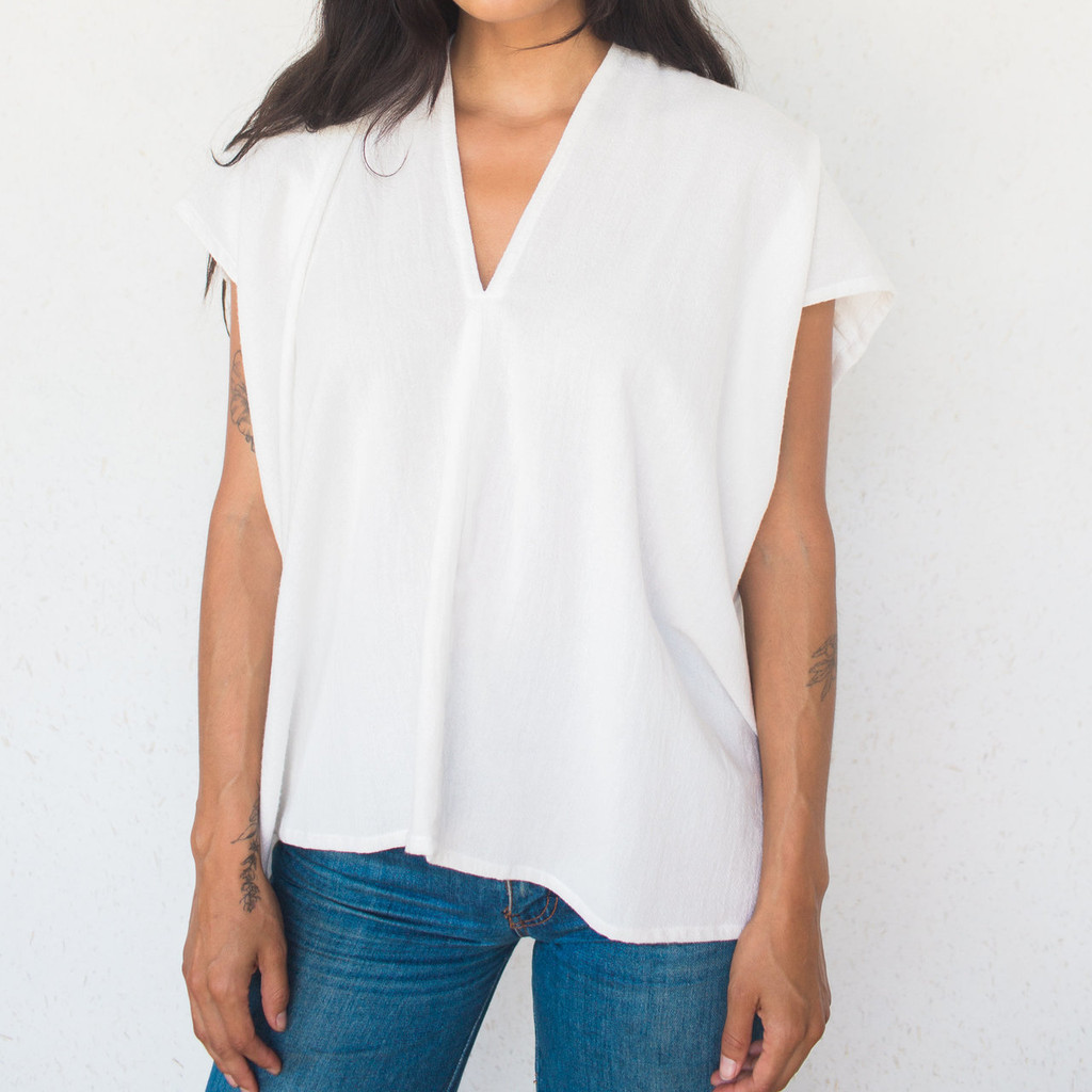 Miranda Bennett : Everyday Top Cotton White