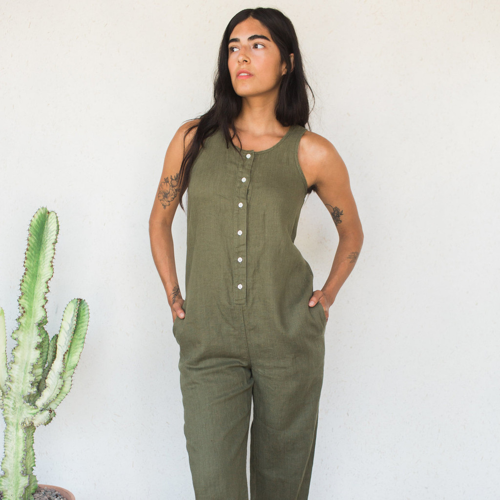 Beaton : Olive Jumpsuit
