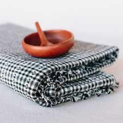 Heather Taylor Home : Soho Tablecloth in Black