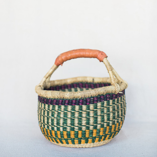 Midland : West African Bolga Basket - Colorful.
