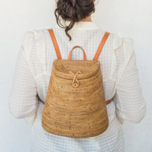 Midland : Indonesian Straw Backpack
