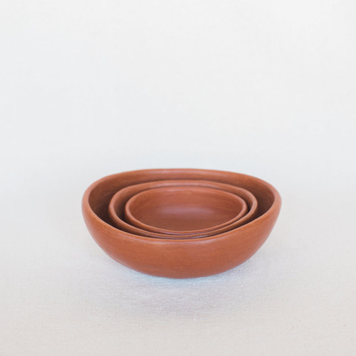 Luz : Set of Small Red Clay Bowls