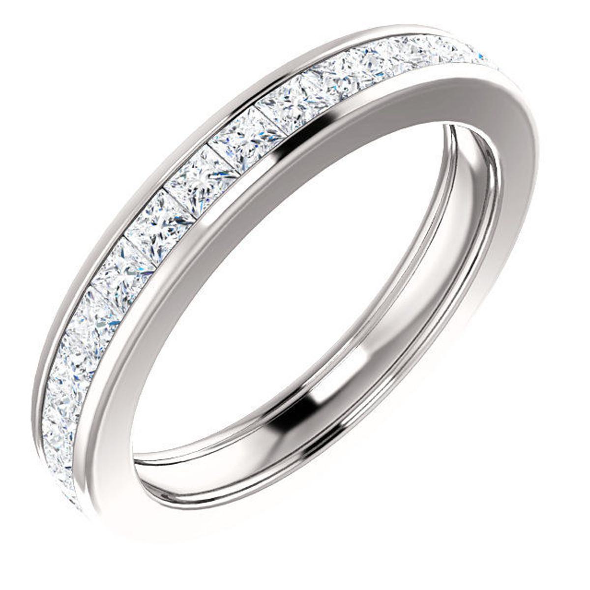 Princess Cut Channel Set Diamond Eternity Ring