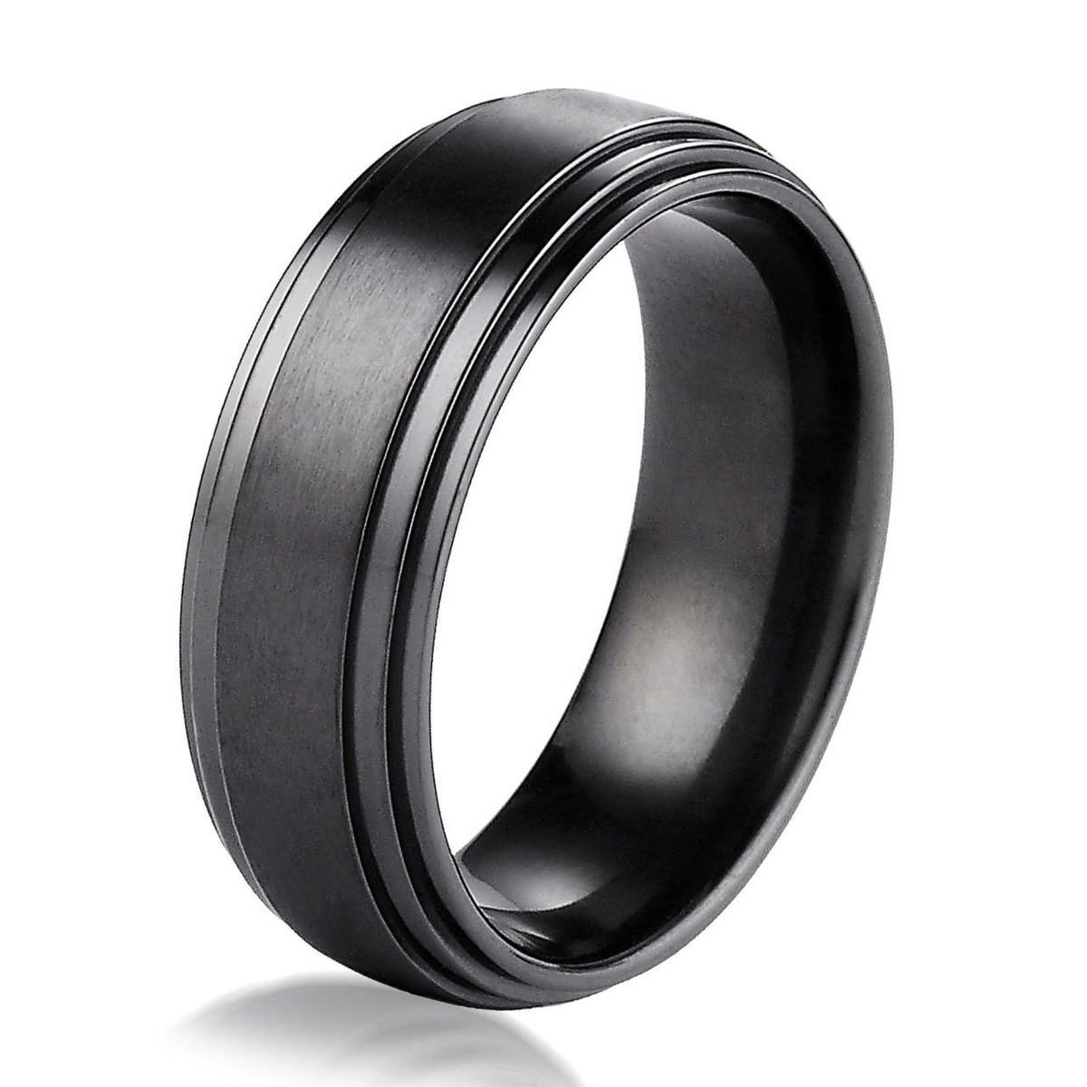 Black Titanium Classic 8.0 MM Wide Wedding Ring