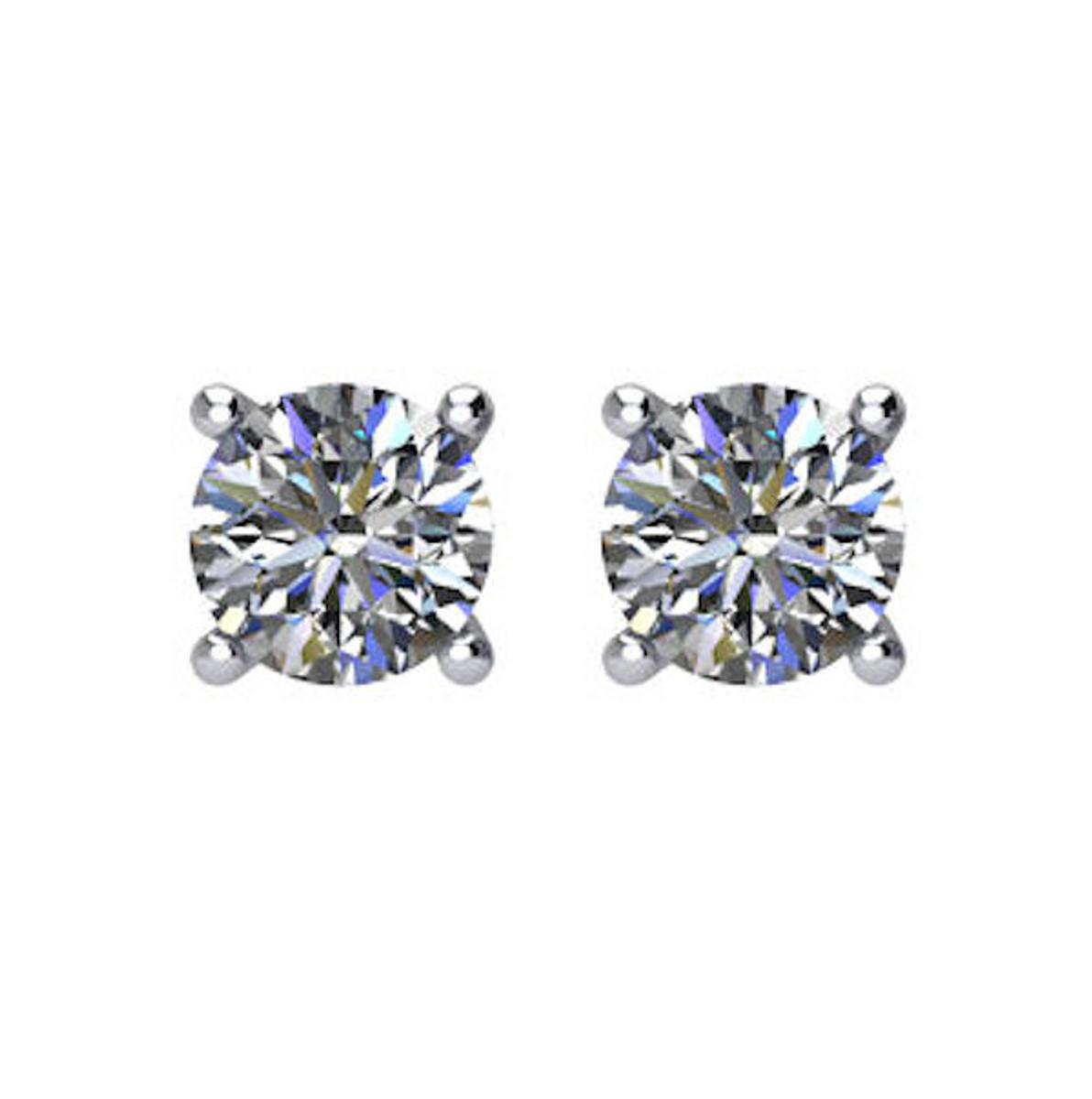 1/4 CT TW Round Diamond Stud Earrings