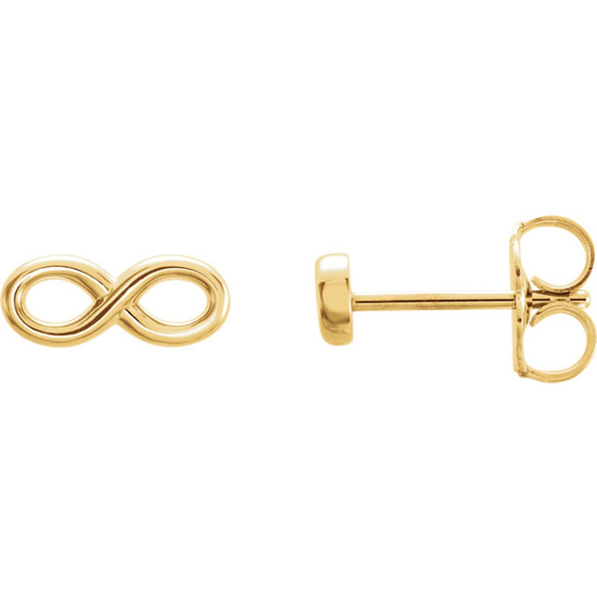 Yellow Gold Infinity Earrings