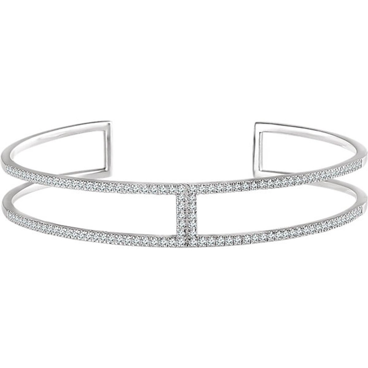 White Gold Diamond Cuff Bracelet