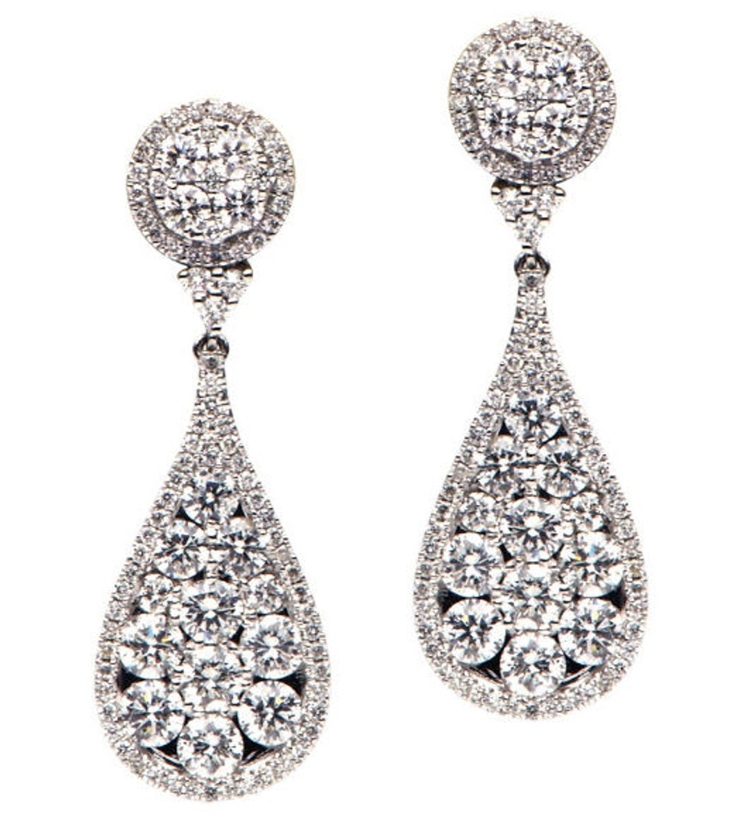 Diamond Drop Earrings 2.88 Ct Tw