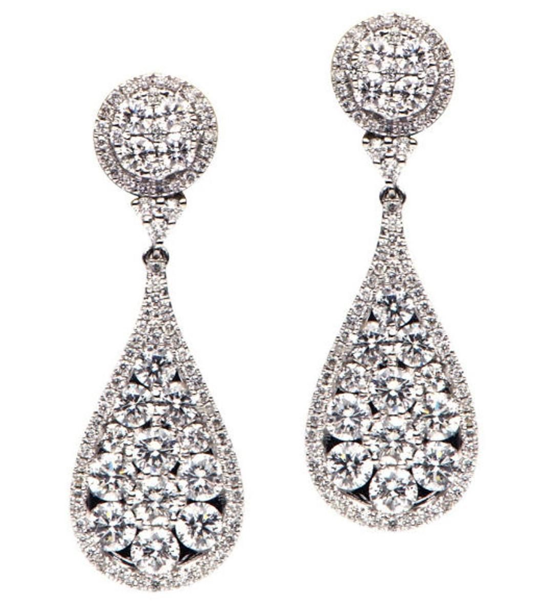 Diamond Drop Earrings 2.88 Ct Tw