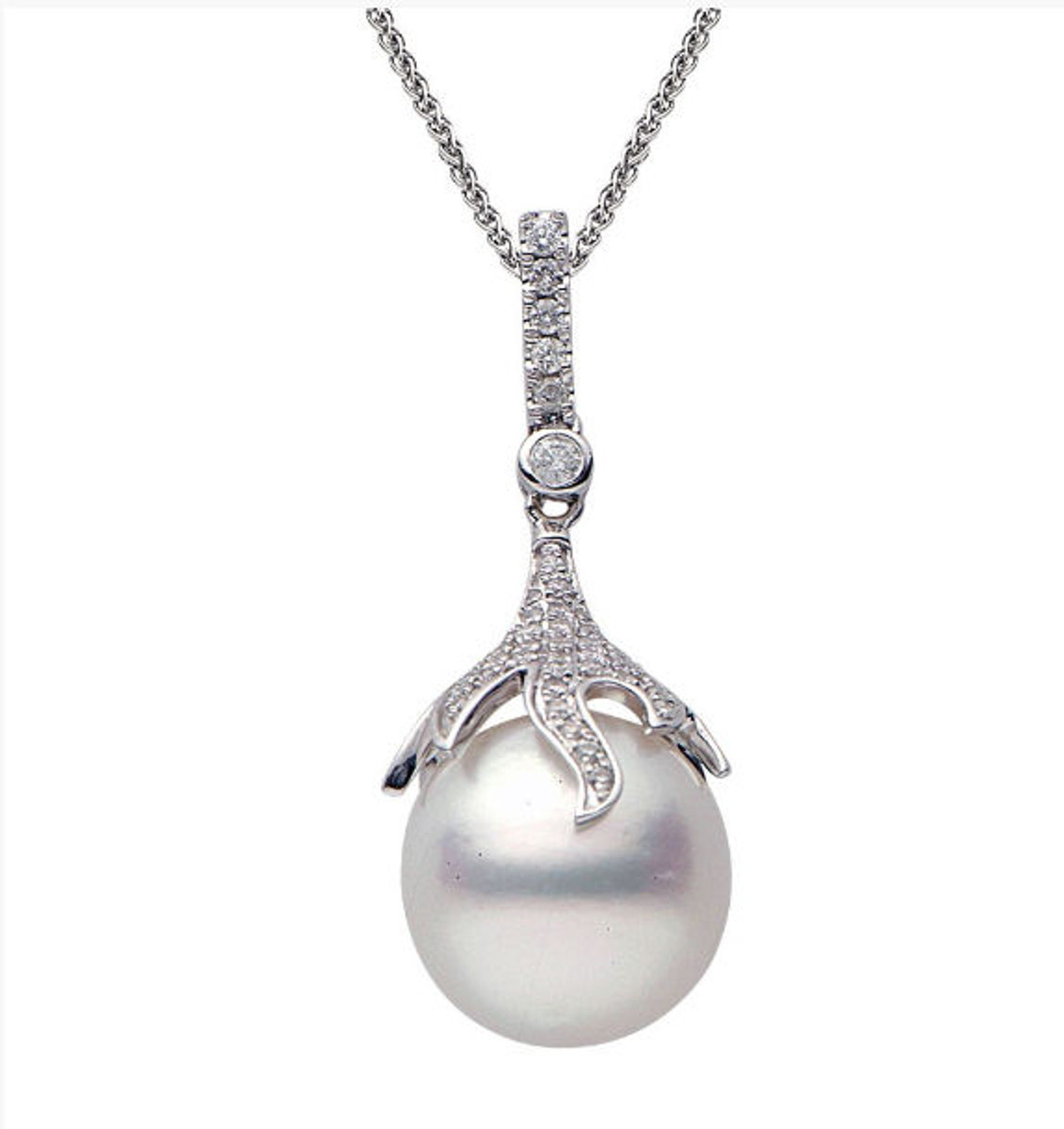 12-13 MM South Sea Cultured Pearl & Diamond Pendant