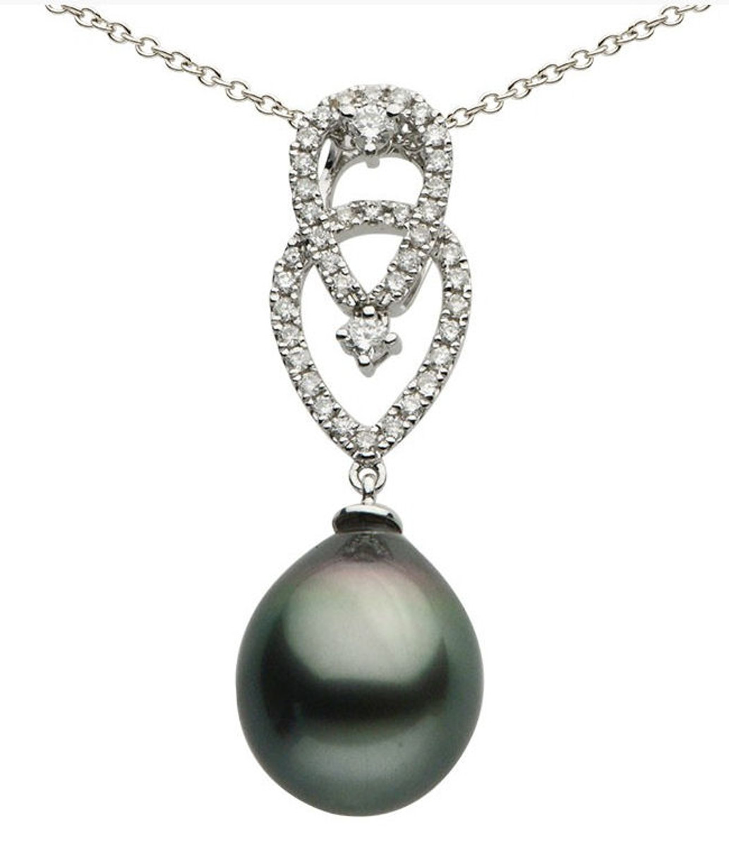 Diamond & Tahitian Pearl Pendant