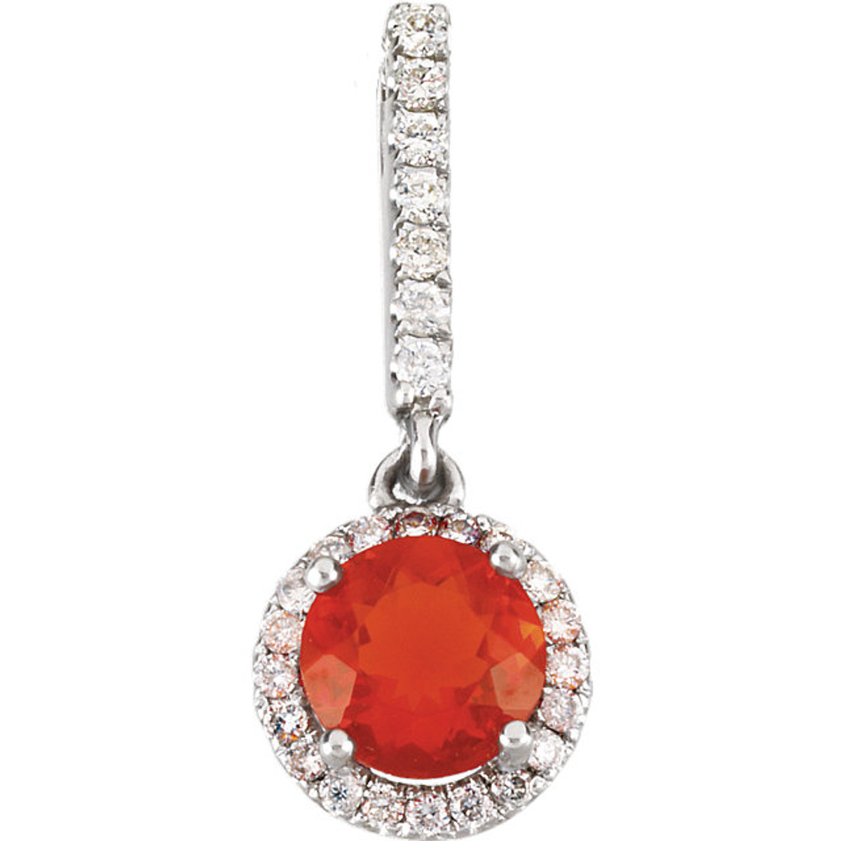 Mexican fire opal diamond pendant princess jewelry mexican fire opal diamond pendant aloadofball Gallery