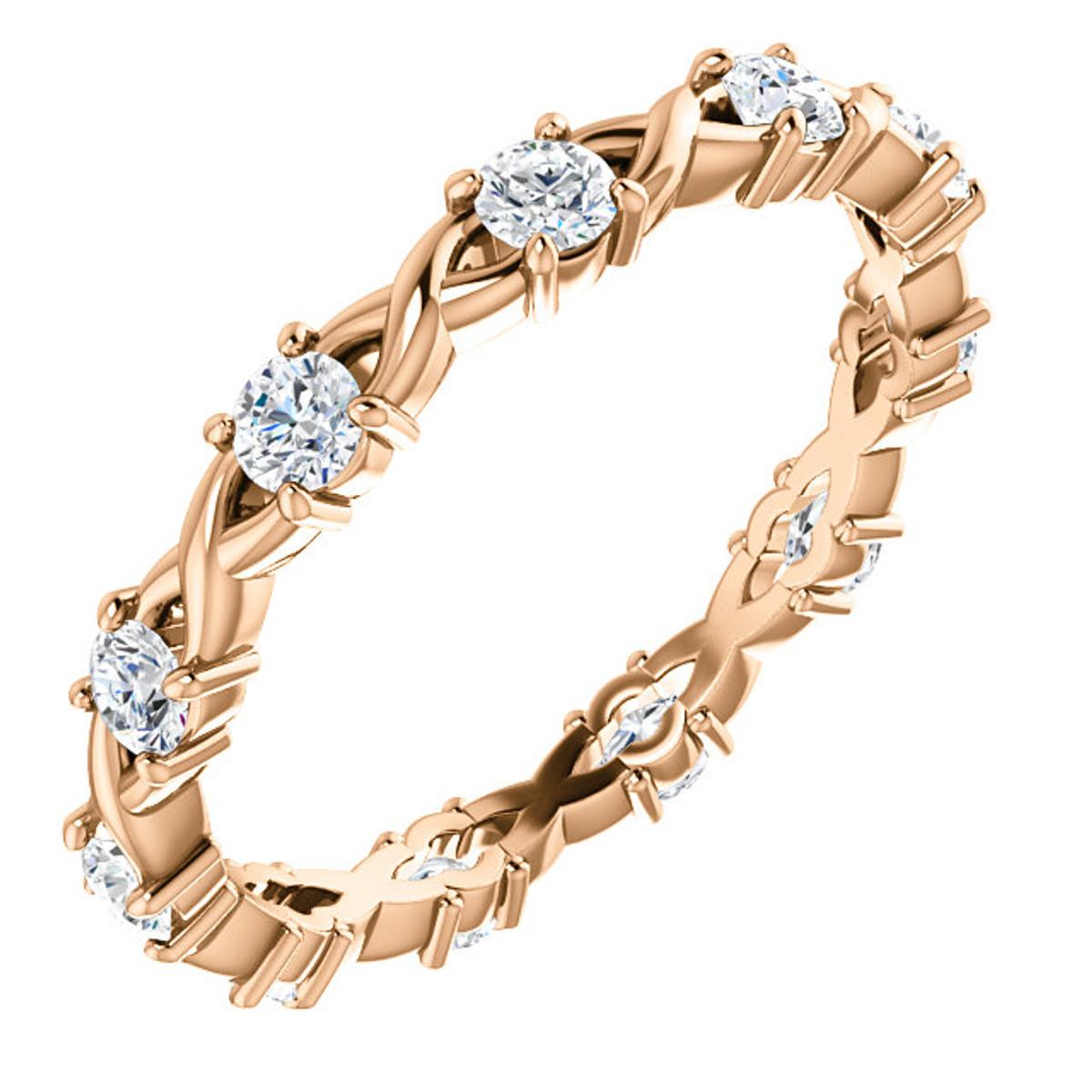 Rose Gold Round Diamond Eternity Ring