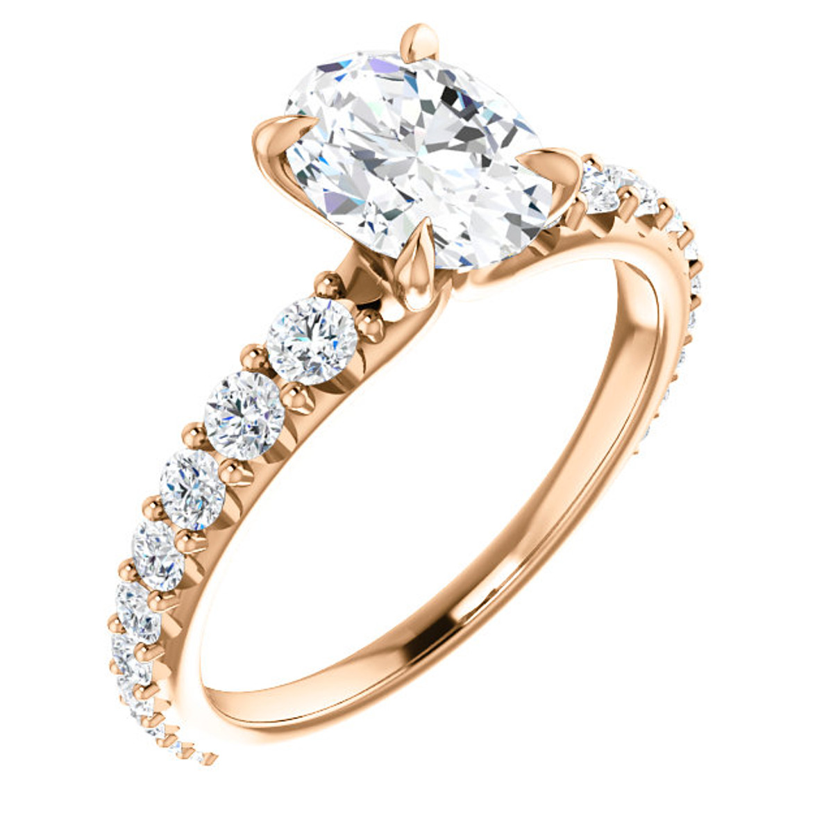 Rose Gold Oval Diamond Engagement Ring