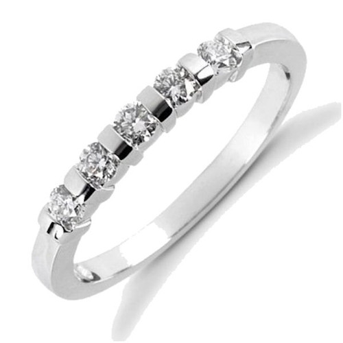 0.25 Ct Tw 5 stone diamond anniversary ring