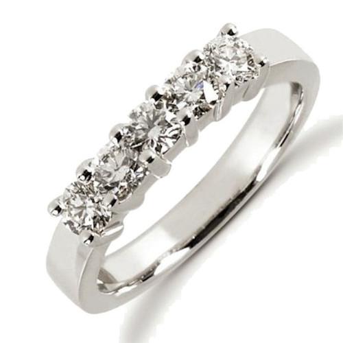 0.75 Ct Tw 5 stone diamond anniversary ring