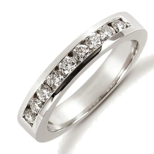 White Gold Diamond Anniversary Ring
