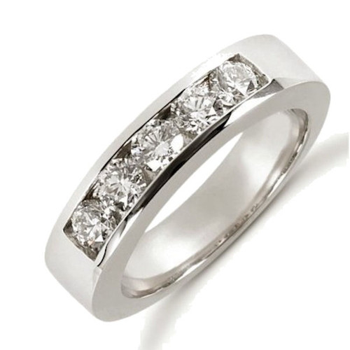 White Gold Channel Set Diamond Anniversary Ring